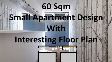 sqm small apartment design  interesting floor plan
