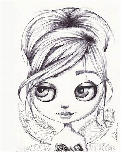 Fox Coloring Pages Doll Tinkerbell Drawing Drawings