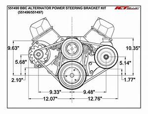 Bbc Alternator    Power Steering Pump Accessory Drive