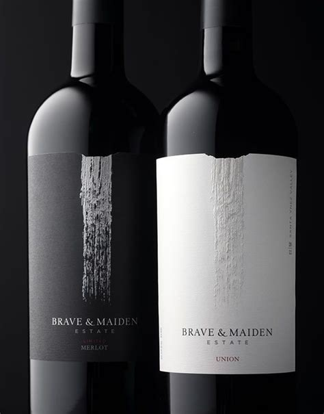 brave maiden estate wine label package design