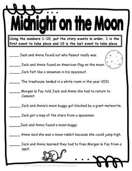 magic tree house midnight   moon  study