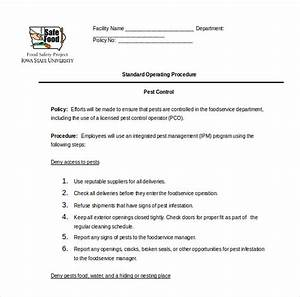 sop templates pdf sop templates 09 37 best standard With operational guidelines template