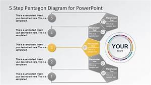 5 Steps Pentagon Shapes Powerpoint Diagram