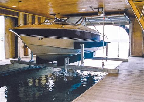 Sling Style Boat Lift custom built boat lifts for boathouses