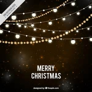 starry night background with christmas lights vector free download