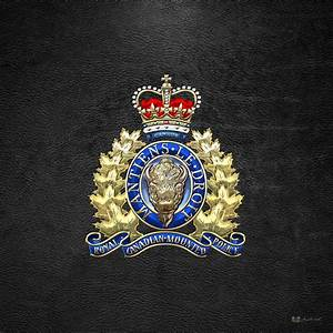 Royal Canadian Mounted Police - Rcmp Badge On Black