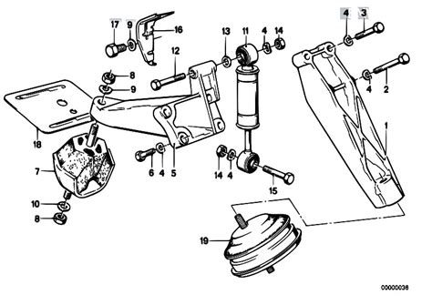Bmw E30 Part Diagram by Original Parts For E30 324d M21 4 Doors Engine Engine