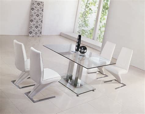 jet glass dining table and z chairs glass dining table