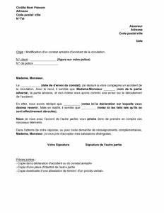 Arret Assurance Auto : lettre de modification d 39 un constat amiable d 39 accident de la route aupr s de l 39 assureur mod le ~ Gottalentnigeria.com Avis de Voitures