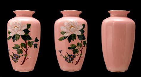Pink Vase by Patina Antik Vintage Pink Floral Vase