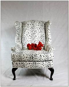Leopard print wing chair slipcovers floors doors for Animal print furniture home decor