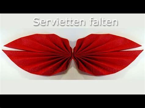 servietten falten einfach faecher anleitung leichte