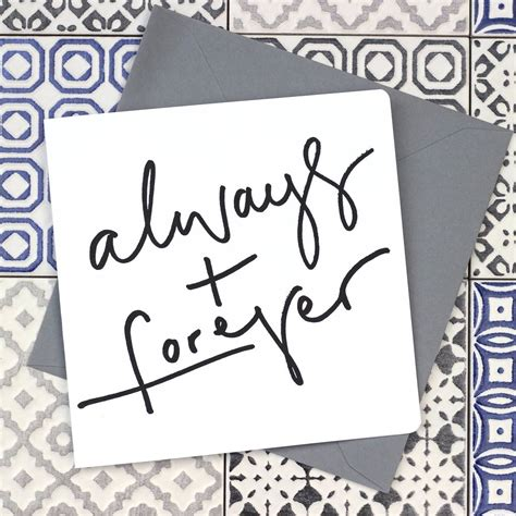 'always + Forever' Valentine's Calligraphy Card By Oh