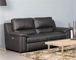 Canape cuir relax electrique a prix discount meubles en for Canape cuir relax electrique