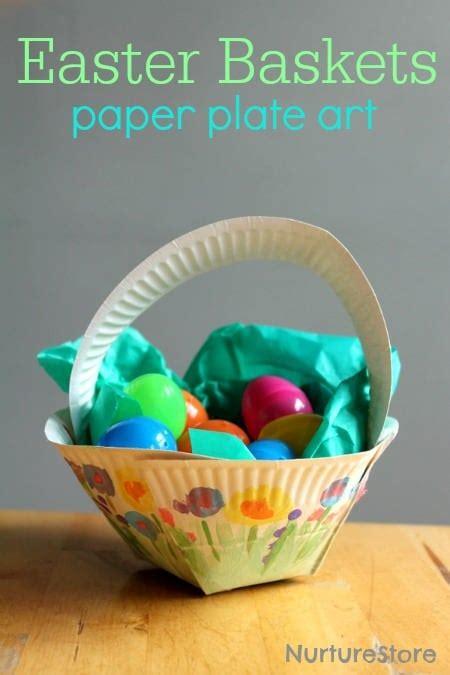 paper plate easter basket craft nurturestore
