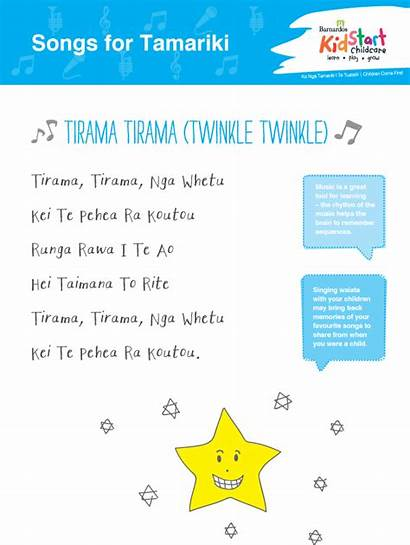 Maori Songs Song Star Twinkle Children Language