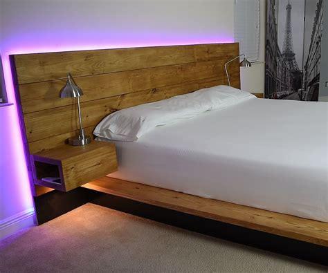 diy platform bed  floating night stands bed diy