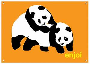 "Enjoi Skateboards Enjoi Piggyback Panda Banner 35"" x 50.5"""
