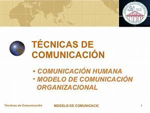 Comunicacion Humana Modelo De Comunicacion Organizacional Unidad