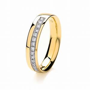 womens 18ct gold 3mm grain set diamond wedding ring With gold womens wedding rings