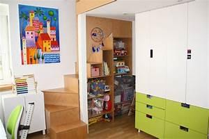 Ikea Stuva Hochbett : umbau kinderzimmer einbau 2 ebene treppe regal ikea stuva kinderzimmer pinterest ~ Orissabook.com Haus und Dekorationen