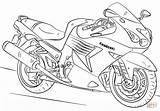 Coloring Motorcycle Kawasaki Printable Drawing Dot Paper sketch template