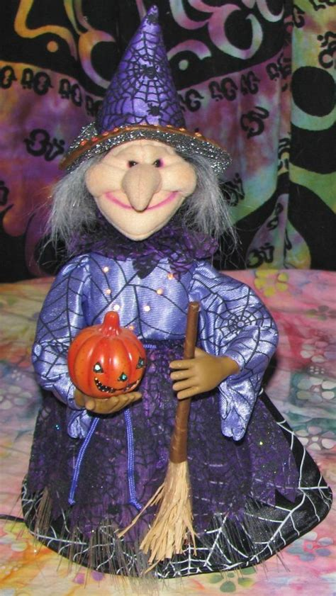 halloween fiber optic witch decoration lights up changes