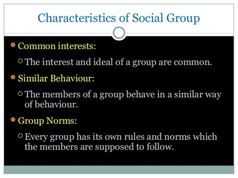 Social Groups And Processes