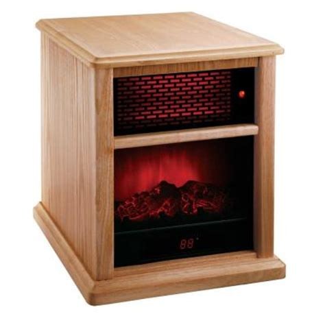 fireplace heater home depot american comfort 1500 watt solid wood infrared fireplace