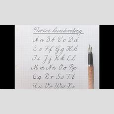 How To Write In Cursive  German Standard For Beginners Youtube