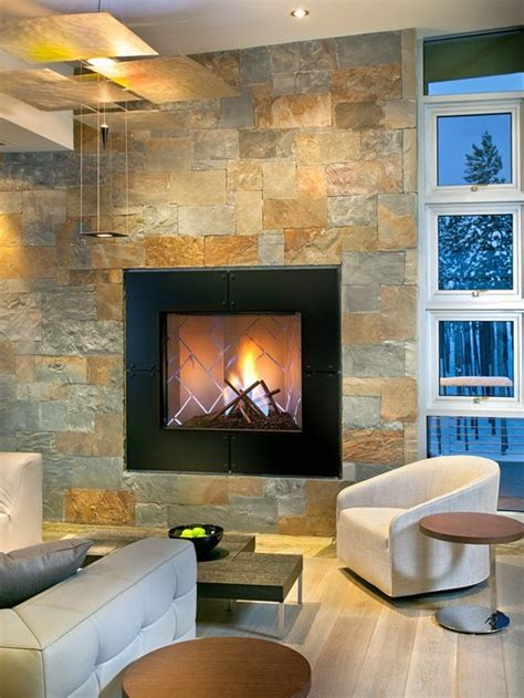 slate fireplace home design ideas pictures remodel  decor