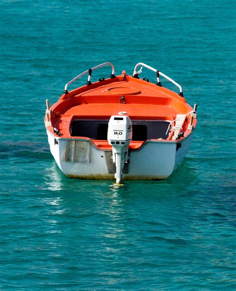 Orange Boat by File White And Orange Boat On A Turquoise Sea Jpg