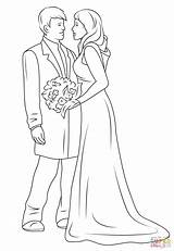 Coloring Couple Drawing Printable Weddings Couples Anime Sheets Drawings sketch template