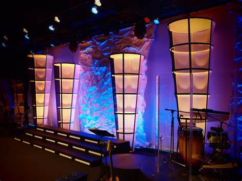 church stage designs cylinder cones church stage design ideas
