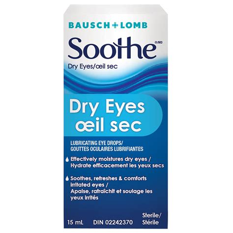 Bausch & Lomb Soothe Dry Eyes Eye Drops - 15ml | London Drugs