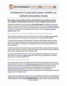 Document Pour Vendre Sa Voiture : comment sy prendre pour vendre sa voiture deuxieme main ~ Gottalentnigeria.com Avis de Voitures