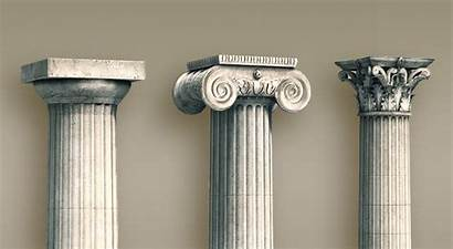 Greek Columns Types Ancient Colunas Gregas Tipos