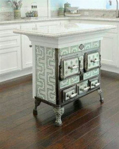 antique kitchen island antique stove recycled as kitchen island kitchen islands