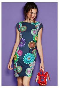 desigual short pinafore dress with a colorful pattern With desigual robe 2016