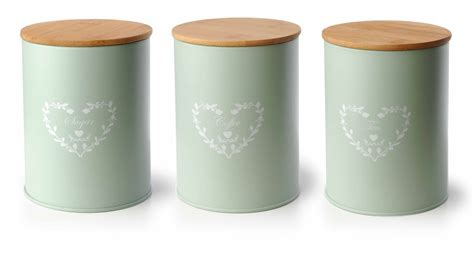 shabby chic canisters set of 3 vintage shabby chic tea coffee sugar kitchen storage jars pot container