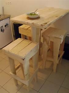 Plan Meuble Palette : plan pour fabriquer une table de cuisine en bois ~ Dallasstarsshop.com Idées de Décoration
