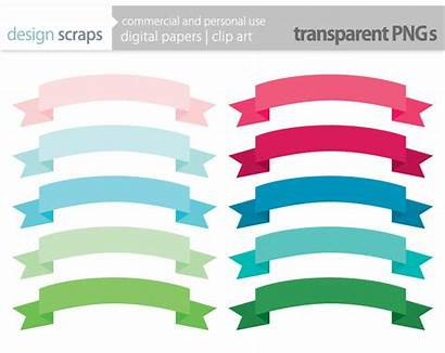 Banner Ribbon Clipart Clip Straight Banners Library