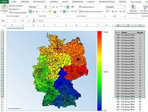 Plz Karte Berlin Kostenlos : postleitzahlen oder orte auf einer excel deutschlandkarte abbilden ~ Orissabook.com Haus und Dekorationen