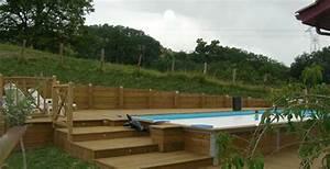 mise en place piscine enterree sur terrain en pente With piscine a debordement sur terrain en pente
