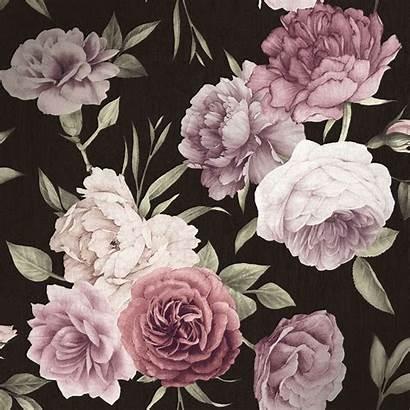 Floral Burgundy Midnight Background Pink Ilovewallpaper Rose