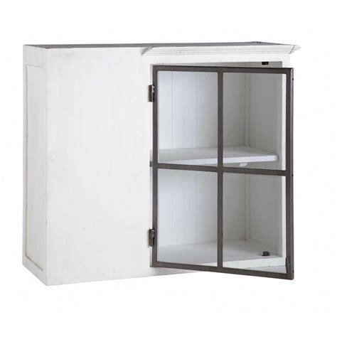 meuble haut de cuisine blanc meuble haut d 39 angle de cuisine ouverture gauche en bois