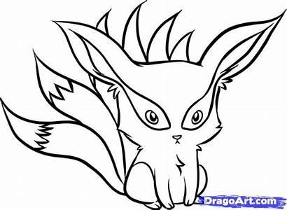 Chibi Draw Naruto Fox Kyuubi Drawing Nine