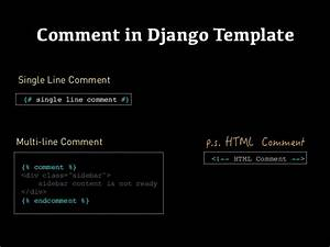 django templates With django template comment