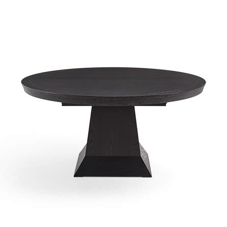 black round pedestal dining table leighton round pedestal dining table in burnished black