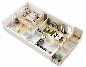 25, Two, Bedroom, House, Apartment, Floor, Plans